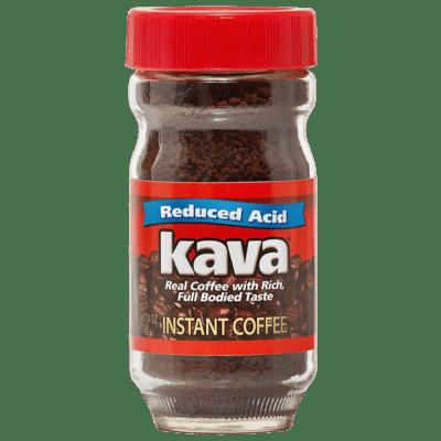 Kava Coffee Low Acid Instant Reduced Acid Jar