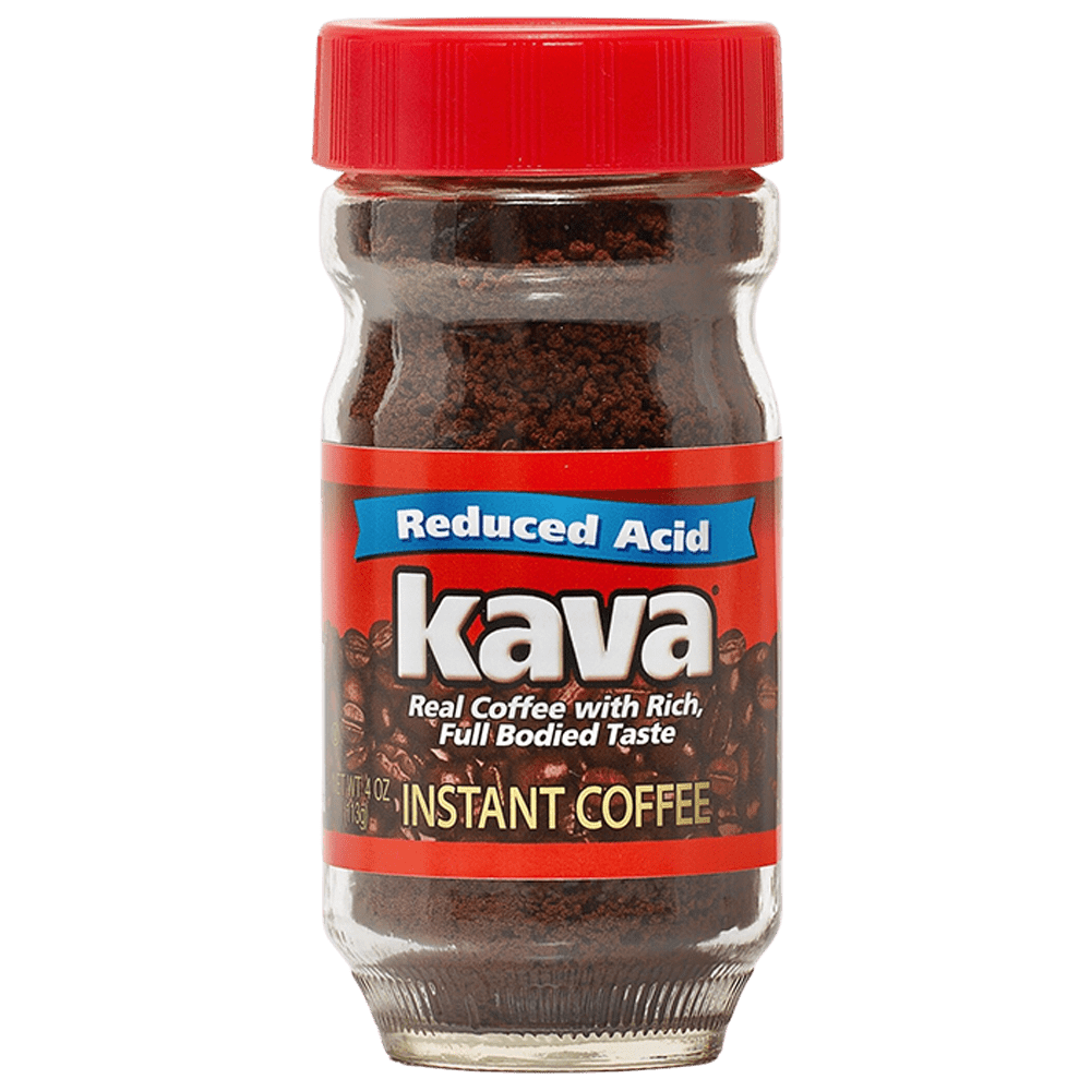 Kava Coffee Low Acid Instant Reduced Acid Jar